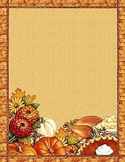 Thanksgiving Dinner Stationery Printer Paper 26 Sheets