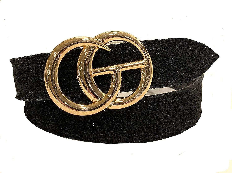 Designer Ranking TOP2 Inspired Black GO Superlatite Belt - Sh and Leather with Suede