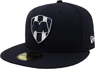 New Era 59Fifty Hat Rayados De Monterrey Liga Mexicana Navy Blue Fitted Cap