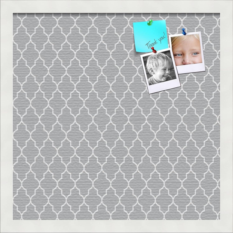 PinPix 14x14 Custom Cork Bulletin Quatrefoil Grey Poster Store sale Board B