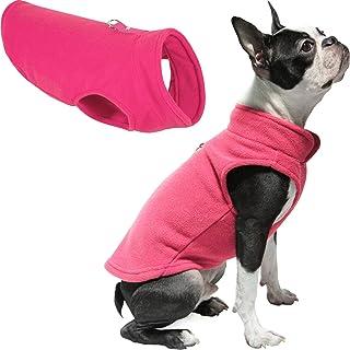 Gooby - Fleece Vest, Small Dog Pullover Fleece Jacket with Leash Ring, Pink, Medium