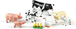 Learning Resources Jumbo Farm Animals: Mommas and Babies Toy Set, 8 Pieces, Ages 2+,Multi-color
