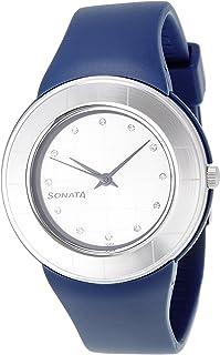 Sonata Fashion Fibre Analog Silver Dial Women's Watch -NK8991PP04
