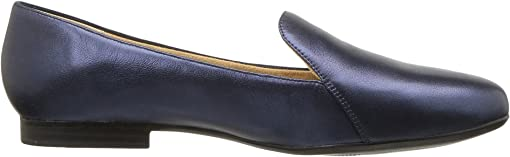 Inky Navy Metallic Leather