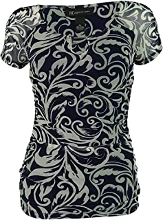 844a78b4a42ad INC International Concepts Women s Short Sleeve Ruched Top (PS