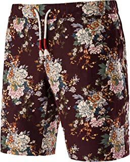 01c21a6565 Cottory Mens Multi Color Flower Design Skate Surf Board Short / Swim Trunks