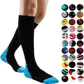 Gnpolo, Calcetines de compresión graduados para mujer, 15-20, 20-30 mmHg, calcetines atléticos para enfermera