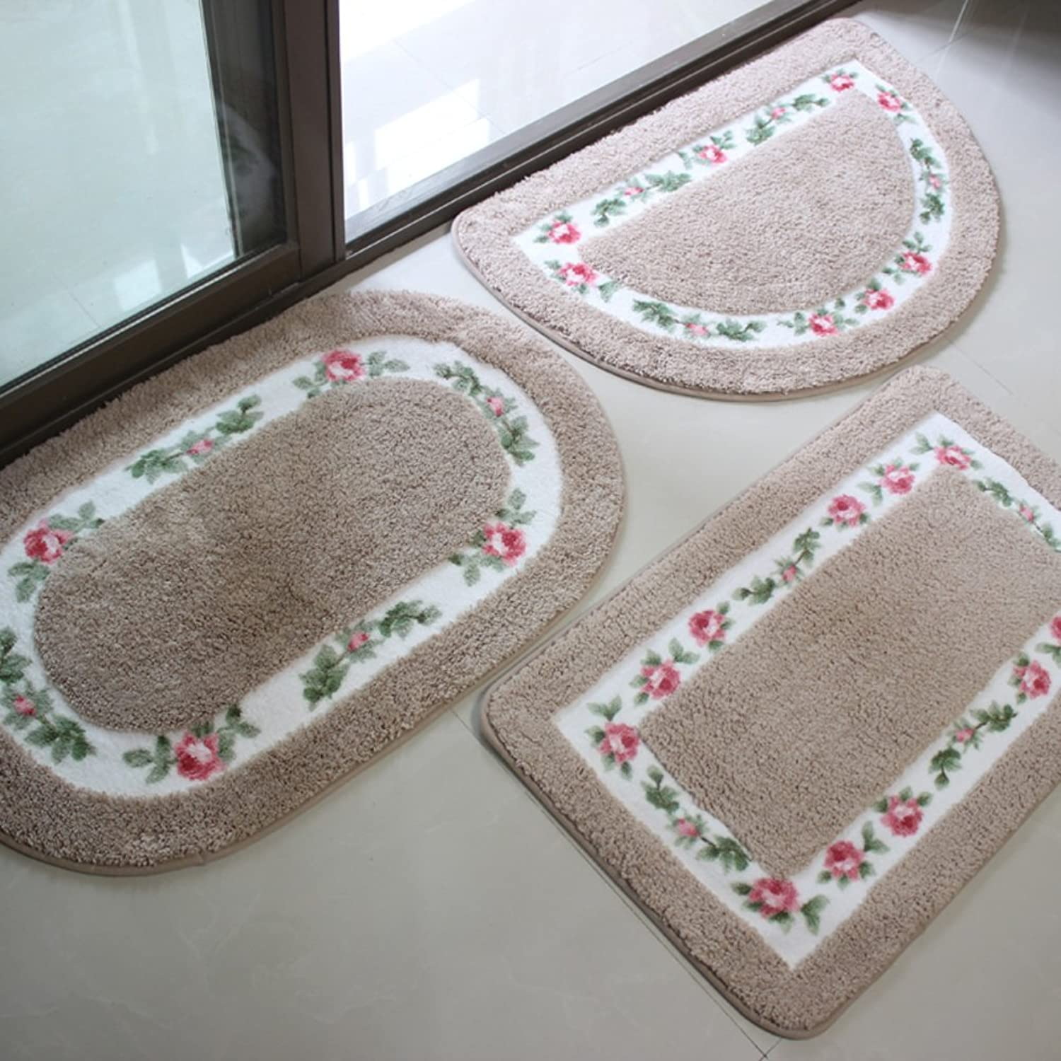 Water-Absorbing Non-Slip Door mat1 for Bathroom, Kitchen,Living Room,Bedroom-E 45x75cm(18x30inch)
