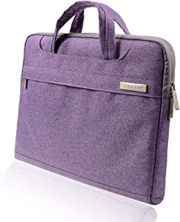 CERRO 13.3 14 Inch Water-Resistant Canvas Fabric Laptop Sleeve/Notebook Computer Case/Ultrabook Briefcase Carrying Bag (14 Inch, Purple)