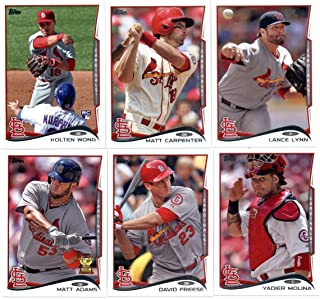 2011, 2012,2013 & 2014 Topps St. Louis Cardinals Baseball Card Team Sets (Complete Series 1 & 2 From All Four Years )