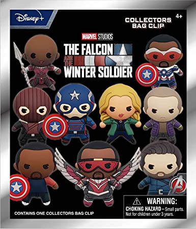 Marvel The Falcon and Winter Soldier 3D Foam Bag Clip in Blind Bag