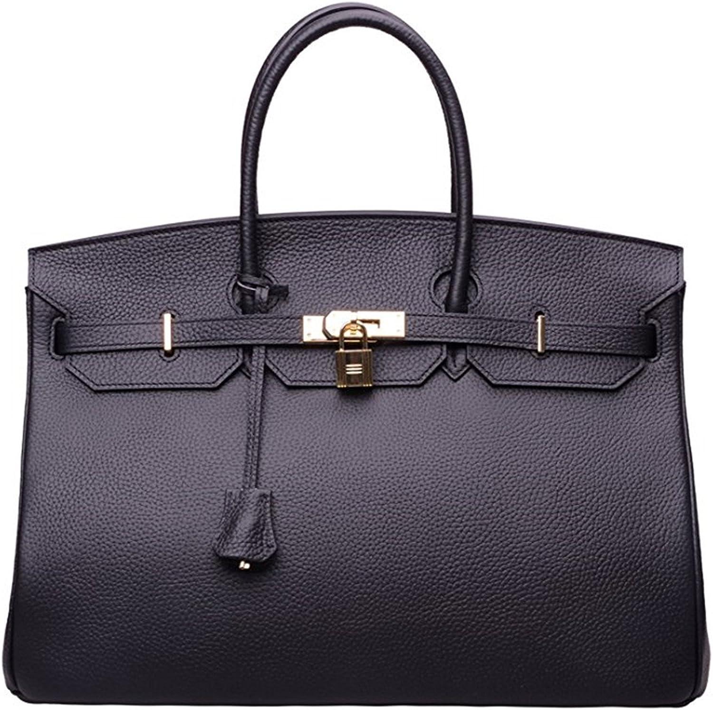 40cm Oversized Padlock Business Office Top Handle Handbags Black