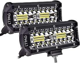 LED Light Bar, Atralife 7 Inch 240W 24,000lm LED Work Light Spot Flood Combo LED Lights - IP68 Waterproof Driving Fog Off Road Lights - 2 Years Warranty, 2 Pack
