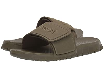 Hurley Fusion 2.0 Slide (Olive Canvas) Men