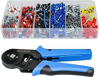 Solsop Ferrule Crimping Tool Kit AWG28-7 Self-Adjustable Ratchet Wire Ferrule Crimper, Wire...