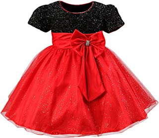Toddler Girls Christmas Party Dress Bow Elegant Brilliant Tulle Lace Bridesmaid Wedding Dress 2-8 Years