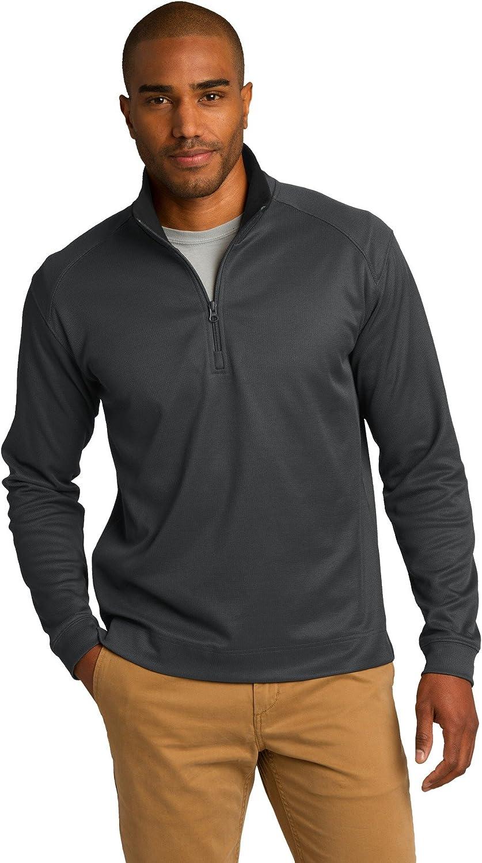 Port Authority Vertical Texture 1/4-Zip Pullover. K805 Iron Grey/Black