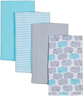 Gerber Boys 4 Pack Blue Print Prefold Diaper Burpcloths
