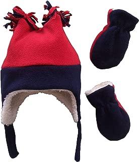 Little Boys and Baby Sherpa Lined Fleece Hat Mitten Winter Set