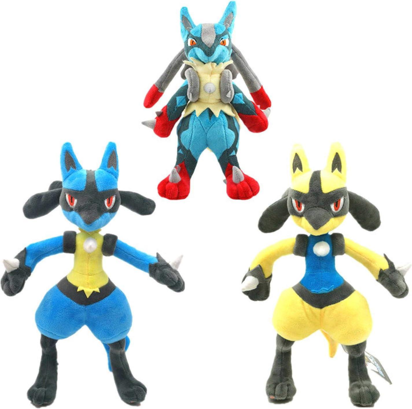 Max 89% OFF 3Pcs Pokemon Excellence Lucario Plush Toys Decorate Animals K Dolls Stuffed