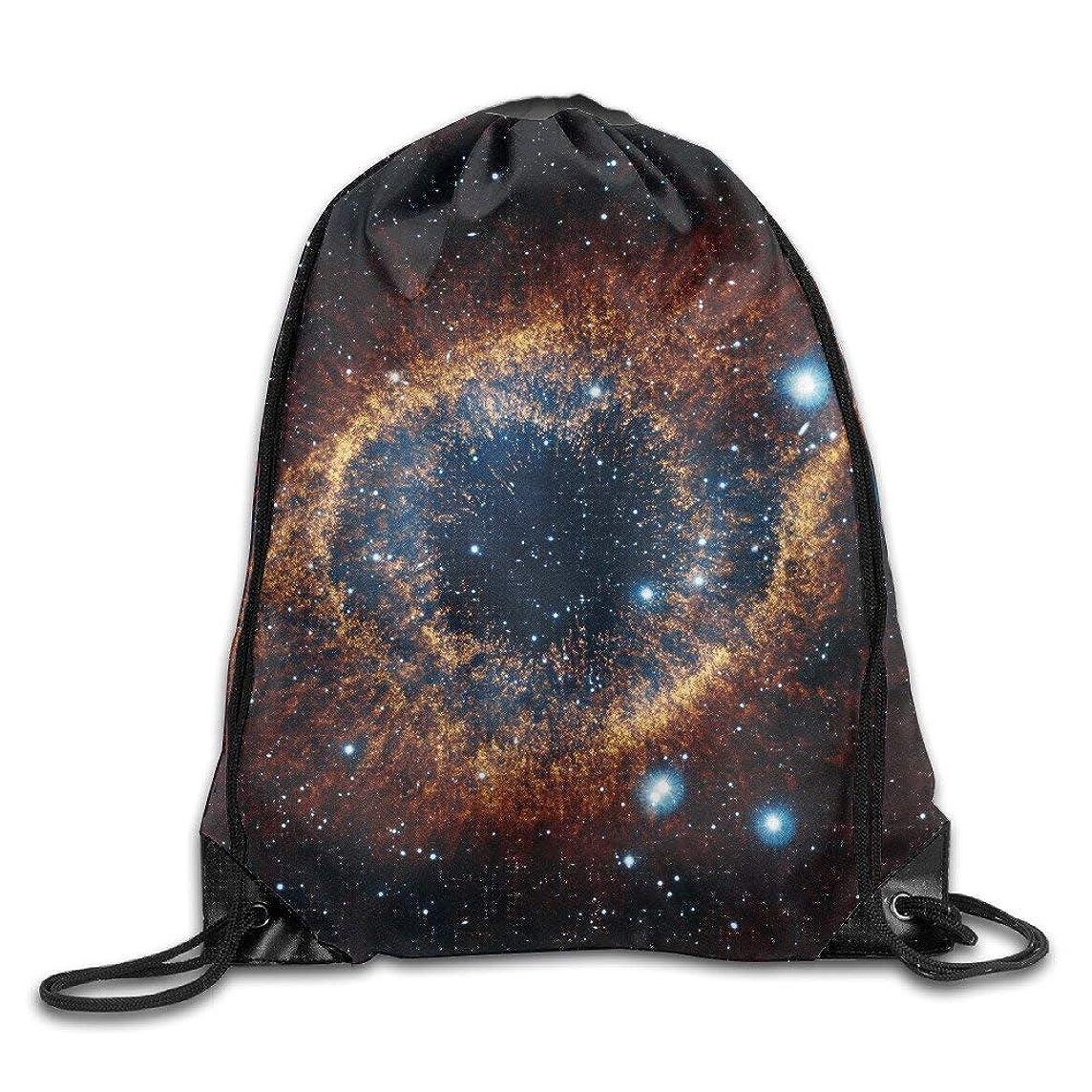 Riuiana Space Galaxy Drawstring Bags Portable Backpack Pocket Travel Sport Gym Bag Yoga Runner Daypack -