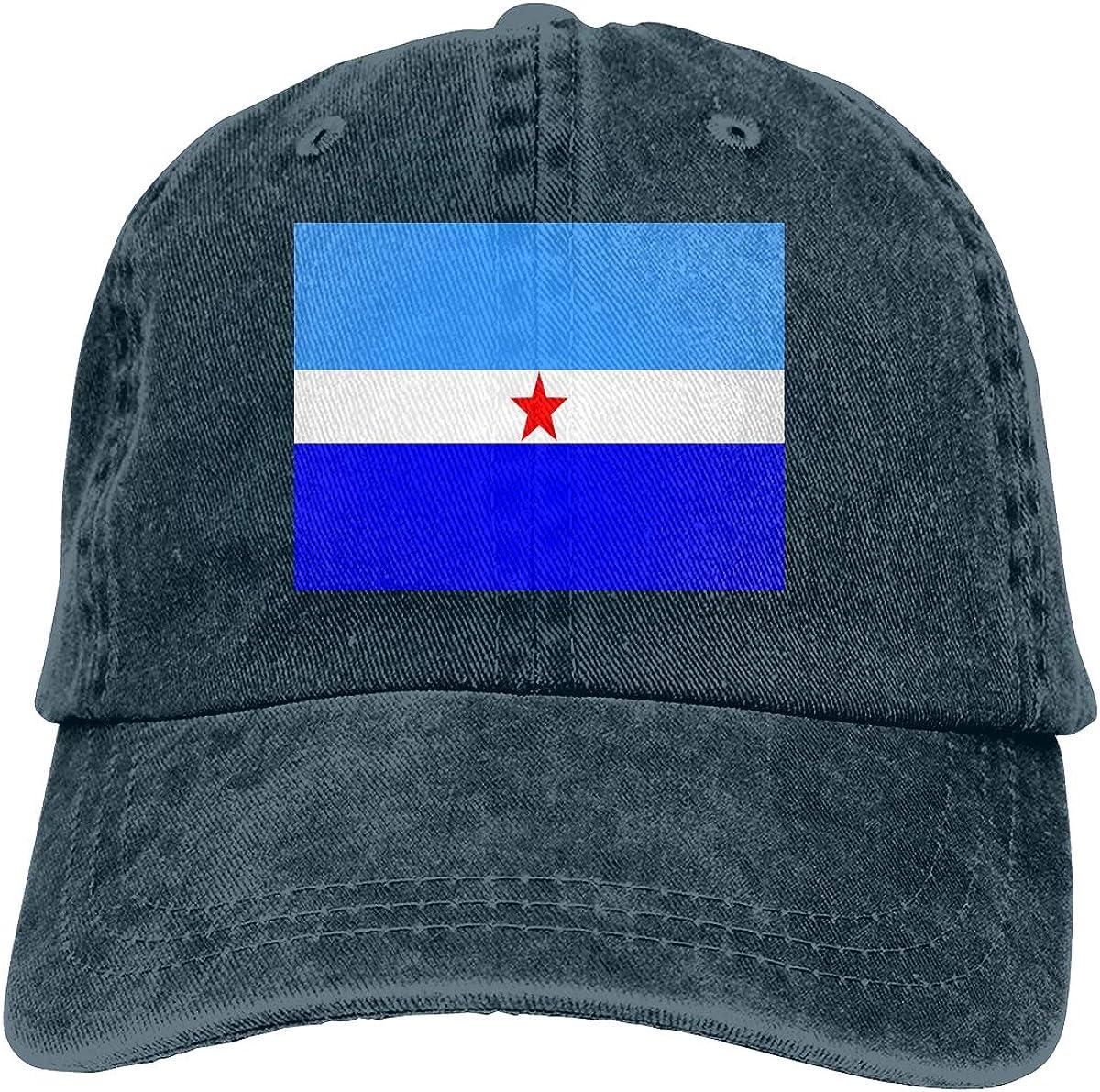 Makatea Flag Denim Hat Adjustable Plain Cap Baseball Caps