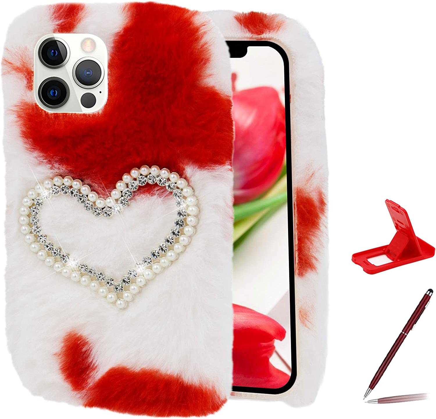 Sales for sale Herzzer Chic Winter Warm Plush Furry Samsung Very popular Cover Galaxy S2