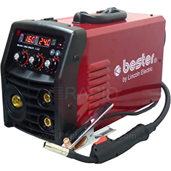with 3m Arc Leads 1ph 230v Lincoln Bester 210-ND MMA Inverter Arc Welder