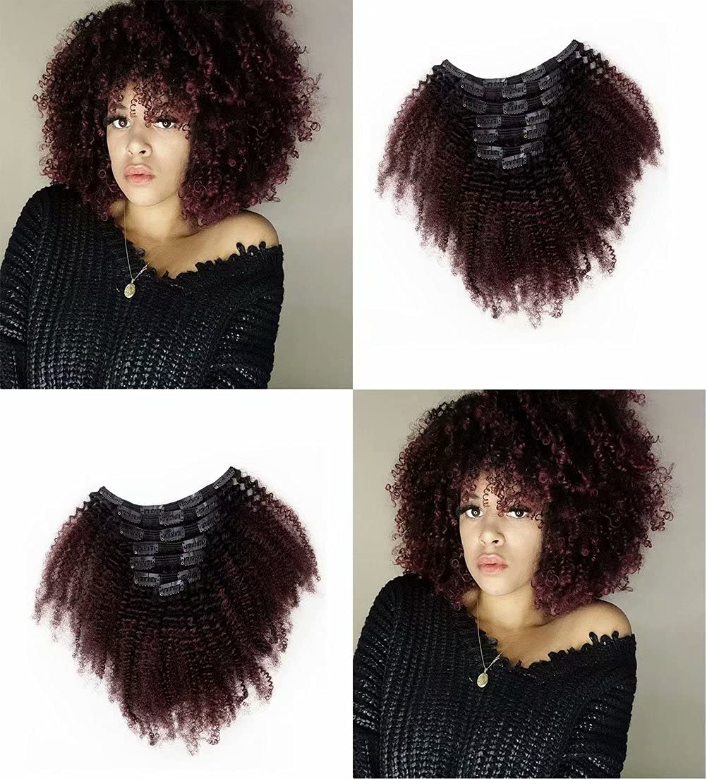 Clip Ins Afro Kinky Curly for Two Town Over item handling ☆ Black t Ombre Women Free shipping anywhere in the nation