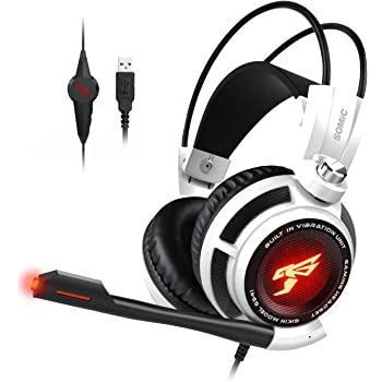 On Ear Volume Control SOMIC G926S 3.5mm Stereo Gaming Headset for PC,Laptop,Phone,PS4,XboxOne Over Ear Wired Headphone with Mic
