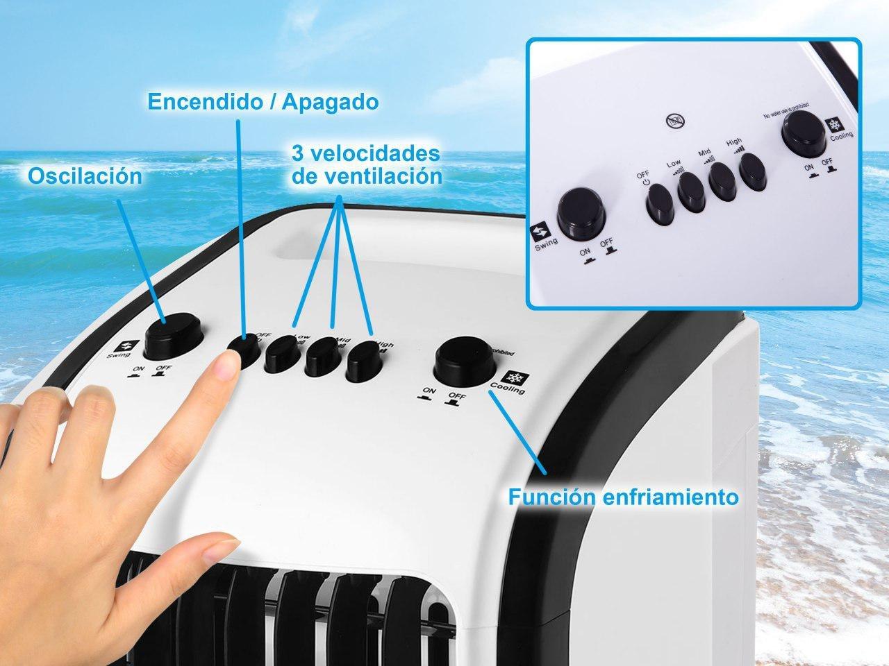 Firstline Europa Enfriador de Aire Climatizador Evaporativo de ...