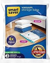 Smart Saver BigOwl Plastic Space Saver Vacuum Storage Compression Bags (70 X 100 cm, Blue) - Pack of 3 Jumbo