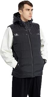 Ternbay Sudaderas chaleco acolchadas ligeras informales con capucha para exteriores para hombres