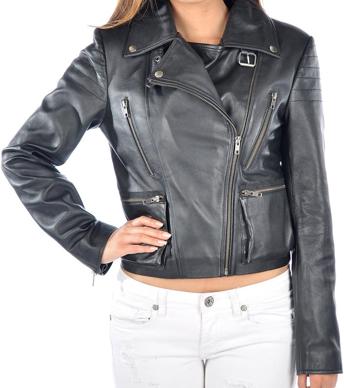 Fadcloset Ilebo Womens Leather Jacket
