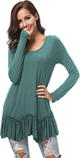 Women's Casual T-Shirt Solid Long Sleeve Tunic Tops