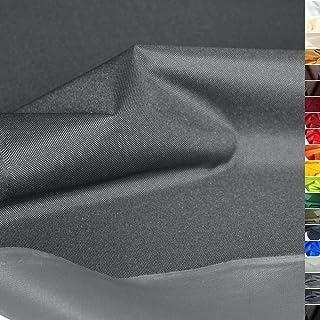 TOLKO wasserfest beschichteter Nylon Stoff | fester Segeltuch Planenstoff als Nylonplane für Aussenbereich | Reißfest und Langlebig | Meterware 150cm breit schwerer Outdoorstoff Grau