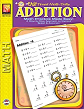 Easy Timed Math Drills: Addition | Reproducible Activity Book