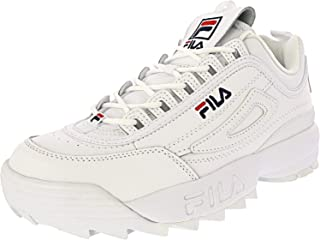 Fila Disruptor 2 Premium Shoes - Mens White/Navy/Red
