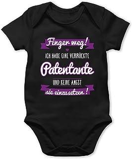 Shirtracer Sprüche Baby - Ich Habe eine verrückte Patentante lila - Baby Body Kurzarm für Jungen und Mädchen