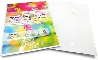 20/fogli A4 Pellicola trasparente lucida adesiva in vinile stampabile a getto dinchiostro