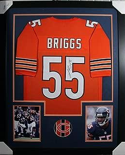 Lance Briggs Autographed Jersey - Framed w COA 4 - JSA Certified - Autographed NFL Jerseys