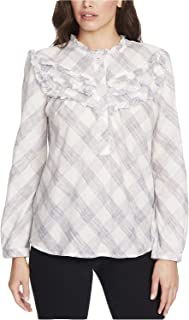 William Rast Women's Talya Cotton Ruffled Top