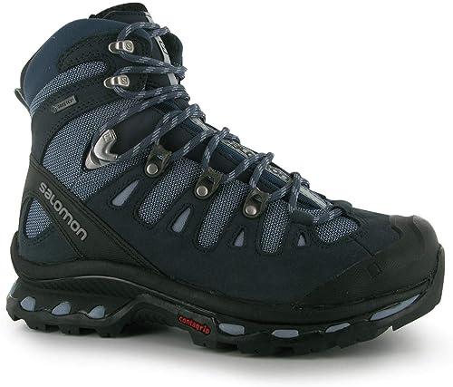 Salomon Recherche 4d Gore Tex Chaussures Marche Femme Bleu Randonnée Trekking Chaussures