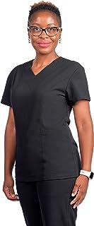 19th Avenue Scrubs, Pauline V-Neck Women's Scrub top, Slim fit Scrub top, Medical Scrubs for Women.