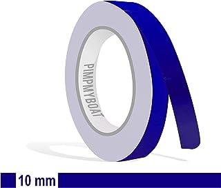 Siviwonder Zierstreifen Royalblau in 10 mm Breite und 10 m Länge Folie Aufkleber für Auto Boot Jetski Modellbau Klebeband Dekorstreifen königsblau royal blau