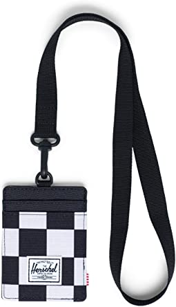 Checker Black/White/Black Lanyard/Black
