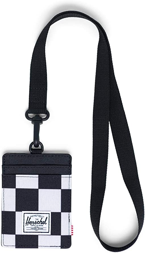 Checker Black/White/Black Lanyard/Black