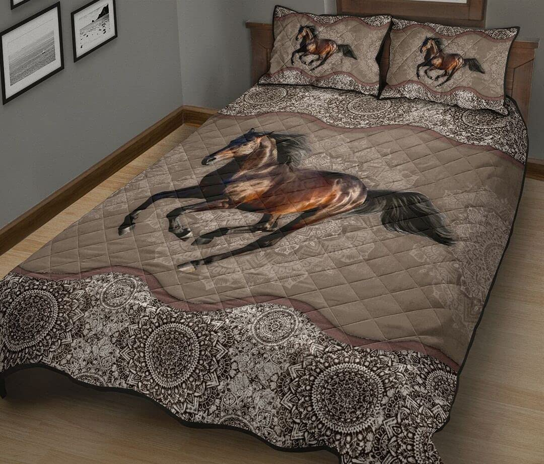 Personalized Horse Quilt Sets Mandala Virginia Beach Mall Soldering N02 Twin Throw King Queen