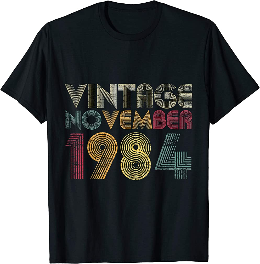 36th Birthday Gifts - Vintage November 1984 T-shirt