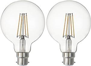 SD LUX B22 LED Bulbs Globe BC Vintage Filament Led Light Bulbs,G95 No Flicker Edison Bayonet LED Bulbs - 8W 800LM Warm Whi...